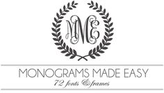 Monograms Made Easy: 72 Fonts & Frames (incredibly awesome list of monogram fonts for all styles/occasions. Silhouette Fonts, Silhouette Cameo Projects, Fancy Fonts, Cool Fonts, Awesome Fonts, Creative Fonts, Alphabet Stamps, Font Alphabet, Calligraphy Alphabet