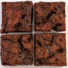 The Bertinet Bakery's delicious sticky chocolate brownies studded with home made salted butter caramel. Dangerously moreish.