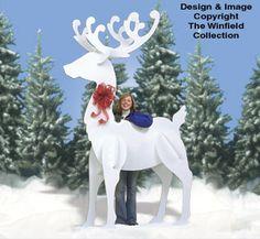 Gigantic Reindeer Wood Pattern