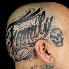 Head Tattoo by Sketchy Lawyer