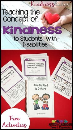 Are you searching for ways to make being kind a concrete concept?  Teaching young children or students with disabilities to understand kindness and be considerate of others is difficult.  Kindness is pretty abstract and most of our kids are pretty concrete.  Check out these ideas for teaching the concept and connect with 9 bloggers who have created resources to help you bring kindness to your classroom. via @drchrisreeve