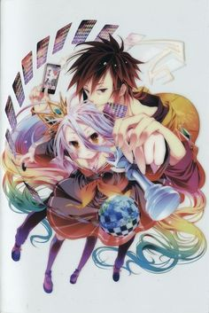 Tags: Anime, Kamiya Yuu, MADHOUSE, No Game No Life, Shiro (No Game No Life), Sora (No Game No Life)