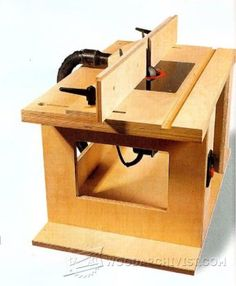 Bench-Mounted Router Table Plans - Router Tips, Jigs and Fixtures   WoodArchivist.com