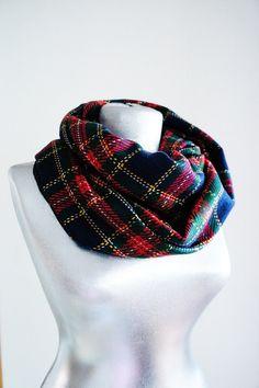Tartan Infinity Scarf  Wool