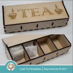 """This box with dividers is ideal for teabags, sorting box, etc. Size is 320 x 180 x 80mm and cut out of 6mm you can add or remove any engraving part. <a href=""""https://za.pinterest.com/cut_templates/"""" target=""""_blank"""" style=""""text-decoration:underline""""> Follow us on PINTEREST </a> <a href=""""https://www.facebook.com/SA.Argus/"""" target=""""_blank"""" style=""""t..."""
