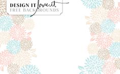 Fabulous Floral - Free Blog Background by DESIGN IT LOVE IT