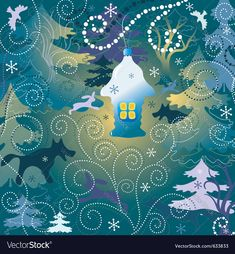 christmas background with a toy house forest and wild animals and birds. Download a Free Preview or High Quality Adobe Illustrator Ai, EPS, PDF and High Resolution JPEG versions.