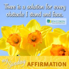 Affirmation Sunday: There is a solution for every obstacle. #indeed #aintnoobstaclesceptinyourmind