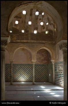 Baños arabes de La Alhambra, Granada  Spain