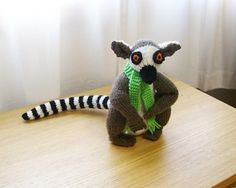 Free knitting pattern for Lemur and more wild animal knitting patterns