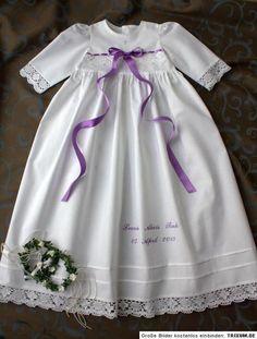 Taufkleid Baby*Junge*Mädchen SWAROVSKI, Baumwolle von Taufkleider Kinderlieb auf DaWanda.com