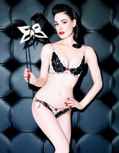 9d0589258 I feel like this set inspired Dita s new Von Follies black and white polka  dot set