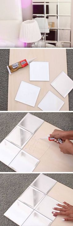 25 Easy DIY Dorm Room Decor Ideas is part of Dorm diy - Try these easy DIY dorm room decor ideas to decorate your dorm! These DIY tips, tricks and hacks are cheap and easy to do to liven up your dorm room! Diy Tumblr, Teen Room Tumblr, Diy Mirror, Tiled Mirror, Mirror Ideas, Wall Mirror, Mirror Inspiration, Mirror Collage, Window Mirror