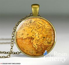 The Lord of the Rings Gondor map pendant