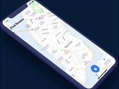 Map for flower lovers designed by Johny vino™. Connect with them on Dribbble; Ui Design Patterns, Web Design, Class Design, Twitter Design, Alphabet City, West New York, Ui Design Inspiration, Ui Web, Mobile Design