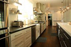 Home Depot Kitchen Cabinet Hardware Transitional Kitchen with Kitchen Island