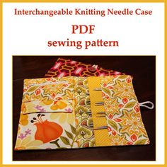 Interchangeable Knitting Needle Case PDF sewing pattern : Sew your own interchangeable knitting needle case! The pattern is a digital PDF file that you print at home. It includes 4 pages of step by step Pdf Sewing Patterns, Free Sewing, Knitting Patterns, Sewing Hacks, Sewing Crafts, Sewing Projects, Sewing Ideas, Knitting Needle Storage, Interchangeable Knitting Needles