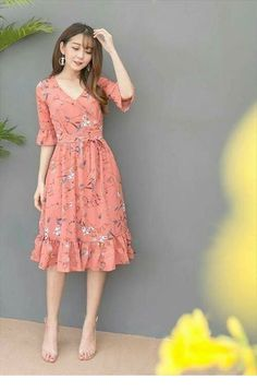 Dress Skirt Will Be Very Beautiful for You to Use Everyday Modest Dresses, Modest Outfits, Stylish Dresses, Simple Dresses, Pretty Dresses, Casual Dresses, Summer Dresses, Floral Dress Outfits, Frock Fashion