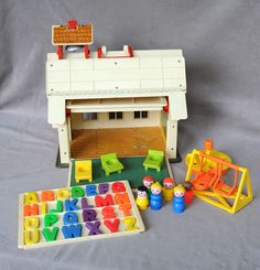 fisher price little people schoolhouse vintage little people playground desks letters