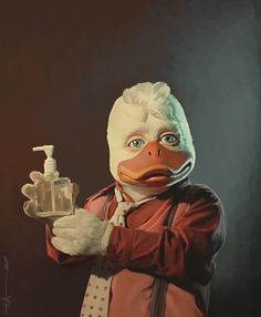 Howard the Duck artwork by euclase. This should be in a museum! A TRUE work of art!!!!