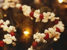 Ok, I love to put popcorn and cranberries on the tree but sometimes the cranberries don't look so pretty after a while.  I found a good tip here I'm sharing.