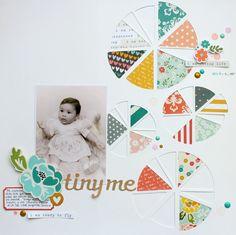 Caroli Schulz Scrapbooking: Tiny Me - Reto Primera Quincena Abril FSN