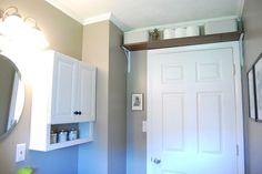 Shelf Above the Bathroom Door - http://whitetiles.info/shelf-above-the-bathroom-door.html
