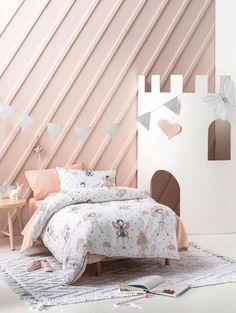 Peach Colors, Colours, Bed Linen Design, Bathroom Kids, Cushions, Pillows, Fairy Houses, Duvet Cover Sets, Linen Bedding