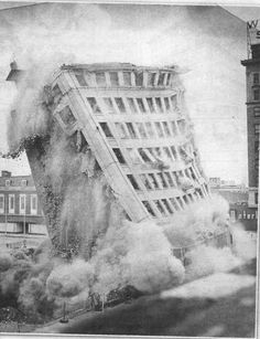Black Hawk Building Demolition 1975
