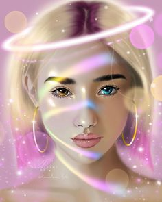 Portrait by @kanoelani_life on Instagram #procreate #digitalart #angel #rainbow #digitalgirl #glitter Digital Portrait, Portrait Art, Digital Art, Fantasy Art Women, Artist Alley, Galaxy Art, Types Of Art, Female Art, Rainbow
