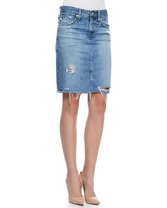Jean skirts are making a come back! AG Adriano Goldschmied, 212 872 2887