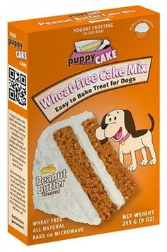 Puppy Cake Mix and Frosting - Peanut Butter (Wheat-Free)