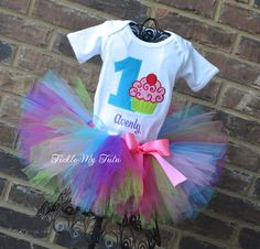 Cupcake Swirl Avenly Birthday Tutu Outfit by TickleMyTutu on Etsy, $54.95