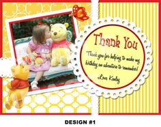 Winnie the Pooh Thank You Note  Winnie the by StorybookLaneCrafts, $7.00