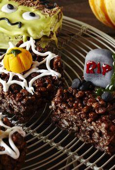 Dulces de Halloween con arroz inflado