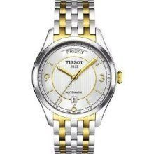 Tissot T0384302203700 Watch T-One Mens - Silver Dial Stainless Steel Case Automatic Movement