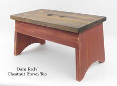 Wooden Step Stool Rustic Step Stool Wooden Foot Stool by Wilewood