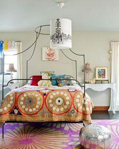 Quarto decorado com têxtil e texturas | Eu Decoro