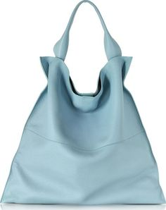 Xiao Bright Blue Leather Medium Tote crafted in supple leather is designed in a relaxed minimal aesthetic for your on and off duty city savvy look. #JilSander #Blue,Gray #Totes #Forzieri #Women #fashion #obsessory #fashion #lifestyle #style #myobsession #obsessory #fashion #lifestyle #style #myobsession #pastel #pastelpalatte #colors #luxury #trend #pastelcolors #allaboutpastel #ss17