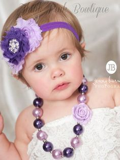 Chunky bead necklaces are all the rage and the newest photo prop for all girls- big &amp