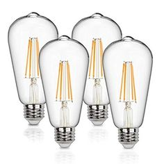 Vintage LED Edison Bulbs 60 Watt Equivalent Dimmable LED Filament Light Bulb 600 Lumen Soft White Antique Medium Base for Decorate Bedroom Office by Supmart Bedroom Office, Bedroom Decor, Bunk Beds Built In, Young House Love, Shed Storage, Backyard Storage, Pine Floors, Painted Doors, Ikea
