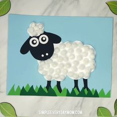 Pom Pom Sheep Craft Make this cute Sheep art project for Easter, spring or when learning about farm animals. It's simple for young children and comes with a free printable. Farm Animals Preschool, Farm Animal Crafts, Sheep Crafts, Animal Art Projects, Animal Crafts For Kids, Easy Art Projects, Preschool Crafts, Easter Crafts, Art For Kids
