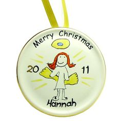 Personalised Fine China Christmas Decoration - Angel  from Personalised Gifts Shop - ONLY £12.99