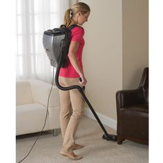 The Backpack Vacuum - Worn like a backpack, this is the lightweight vacuum that turns a physically demanding chore into an activity that's as effortless as walking.