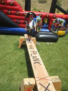 Walk the plank and pirate ship inflatable