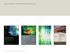 10 Adobe Corporate Brand Guidelines | Adobe Confidential | 25 October 2010  Usage examples: Printed communications, cont.  S...