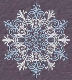 Blustery Snowflake | Urban Threads: Unique and Awesome Embroidery Designs
