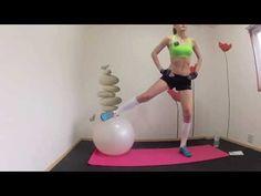 モデル脚を目指そう!6畳フィットネスWO#12: バランスボールトレーニング - YouTube