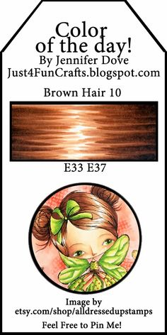 and DoveArt Studios: Color of the Day 149 - Brown Hair 10 Copic Marker Art, Copic Pens, Copic Art, Copic Sketch Markers, Copics, Prismacolor, Blending Markers, Color Blending, Copic Color Chart