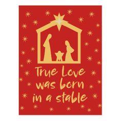 Christian Christmas Nativity Jesus Religious Postcard - postcard post card postcards unique diy cyo customize personalize